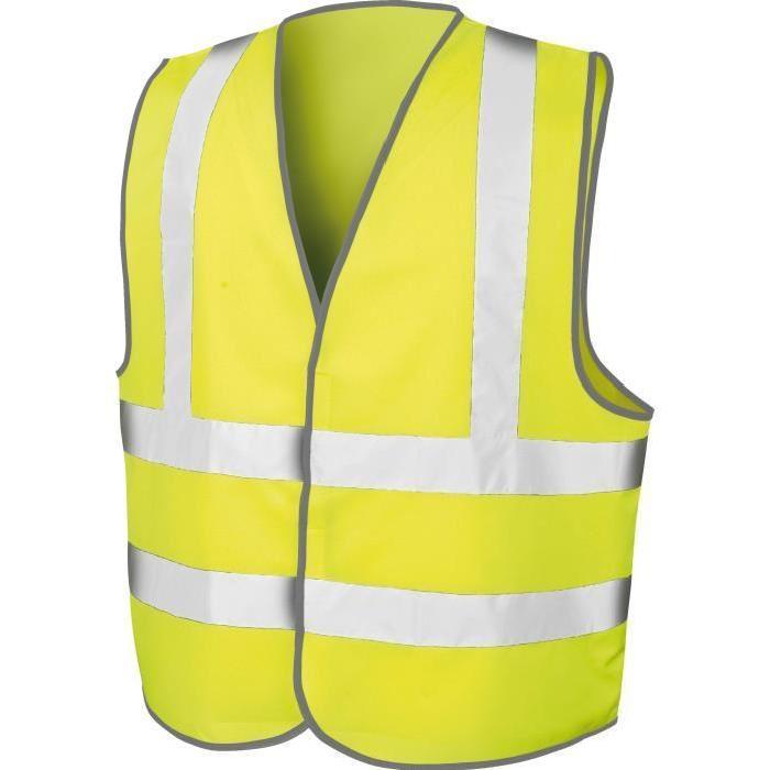 gilet fluorescent costa jaune
