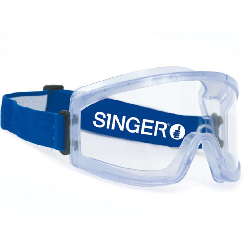 Lunettes-masque de protection. Forme incurvée. Bonne vision périphérique.