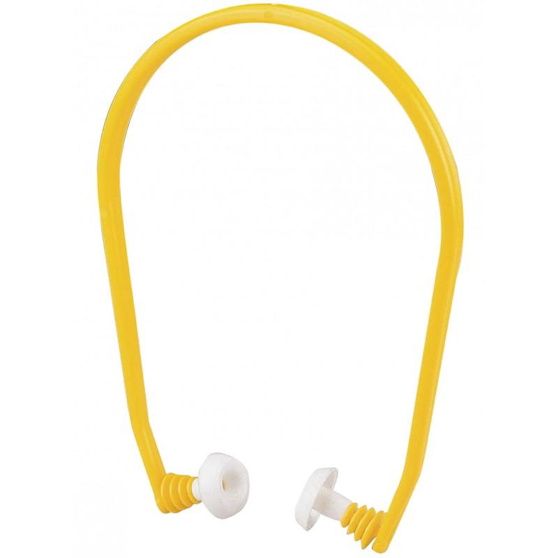Bouchons d'oreille en silicone avec arceau. SNR: 19 dB