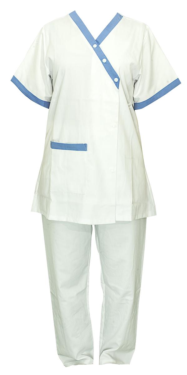 Tenue femme blanche bleu