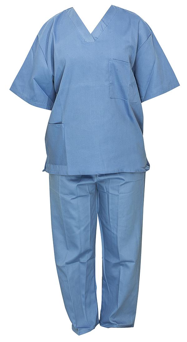 blouse infirmière bleue