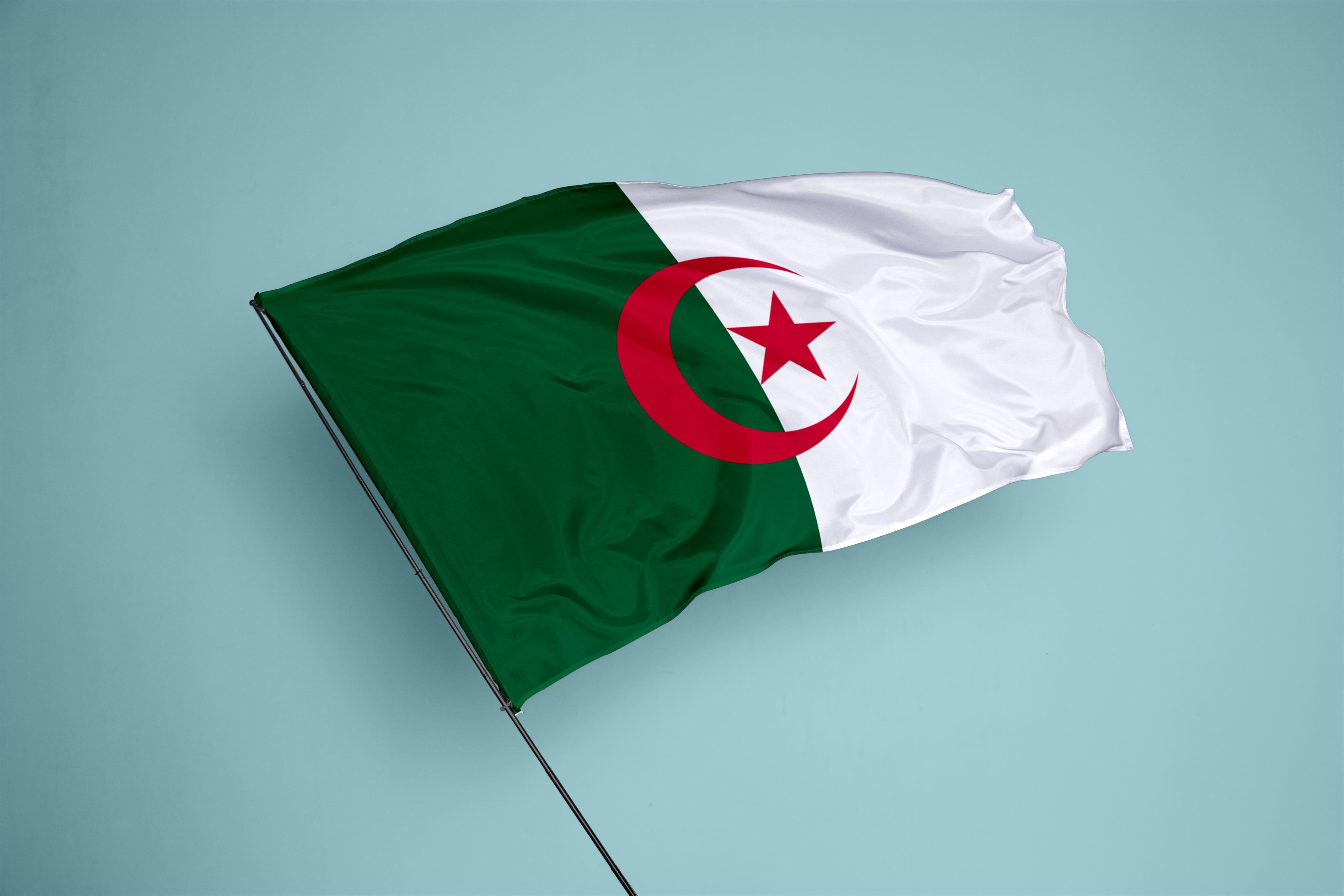 DRAPEAU NATIONAL D'ALGERIE 1*1.5m